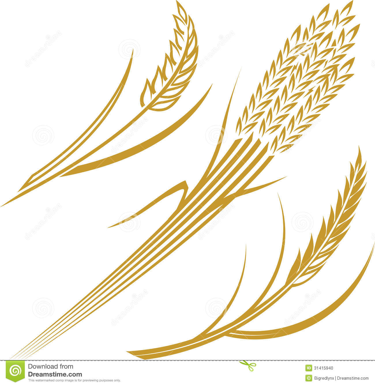 Clipart wheat stalk.