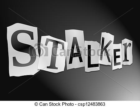 Stock Illustration of Stalker concept..