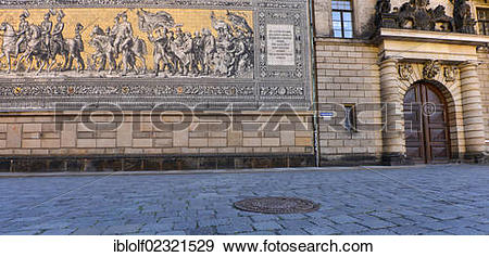 """Stock Photograph of """"Paved road with Fuerstenzug, Procession of."""