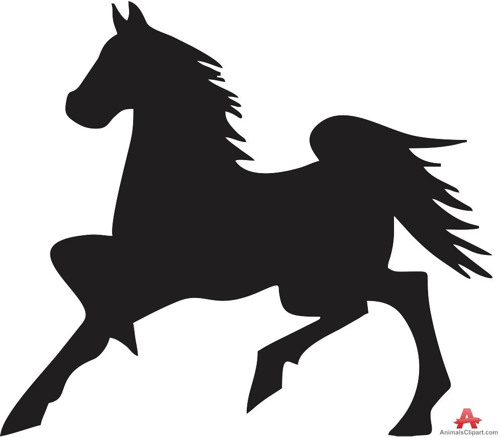 Animals Clipart of stallion.