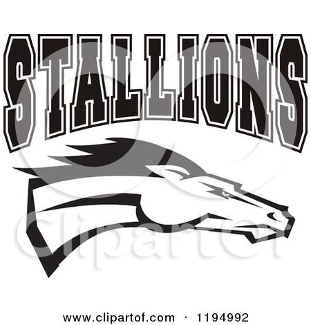 Stallion clip art.