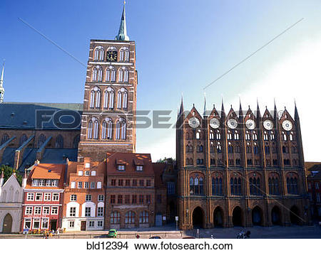 Stock Photo of Germany, city of Stralsund bld12394.