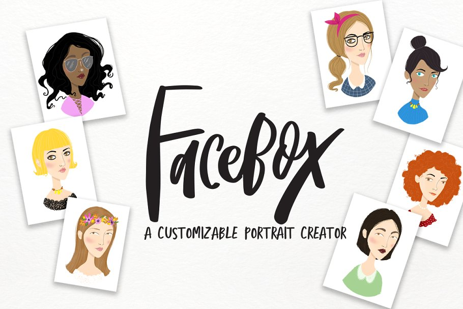 FaceBox Portrait Creator ~ Illustrations ~ Creative Market.