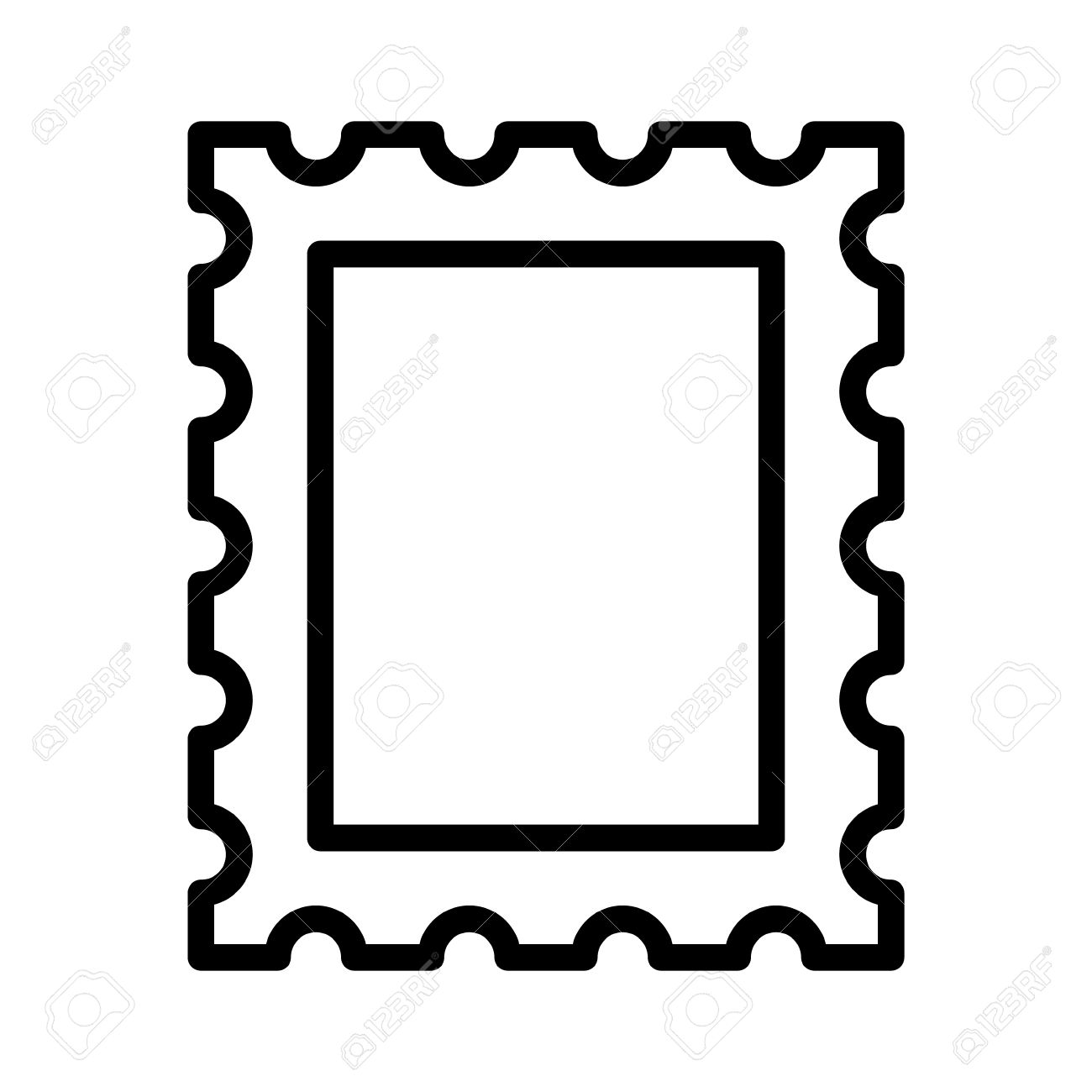 Letter Stamp Clipart.
