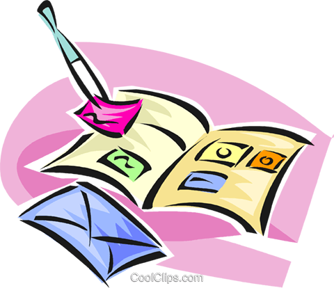 philately, stamp collecting Royalty Free Vector Clip Art.
