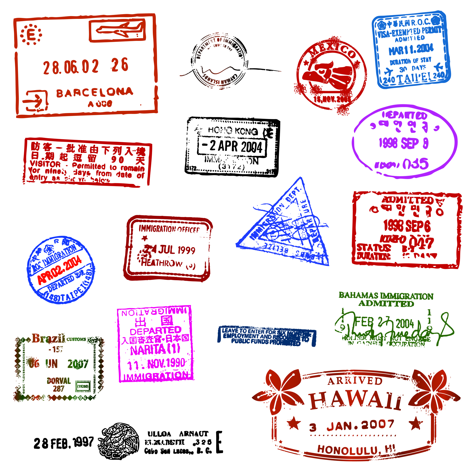 Free Passport Stamp Template, Download Free Clip Art, Free.