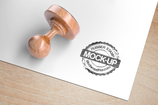 Round Rubber Stamp Mockup Generator.