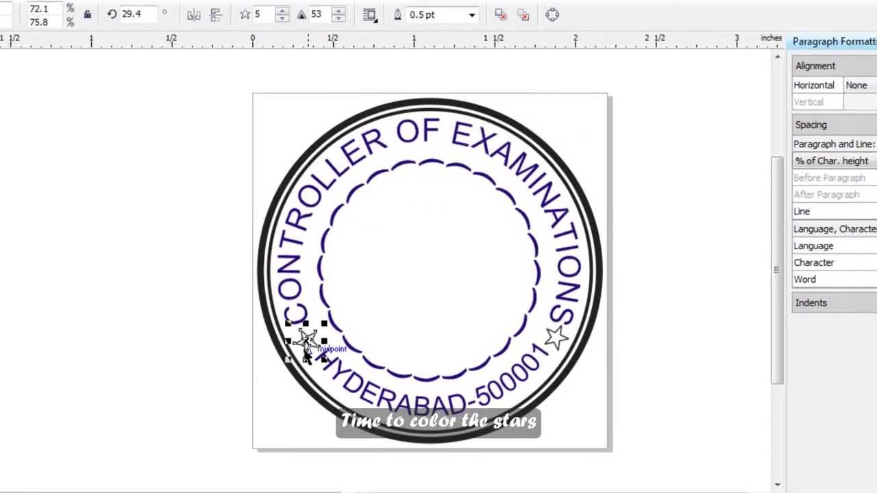 How to Make a Simple Stamp in Corel Draw (English Subs).