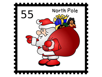 Christmas stamps Clipart.