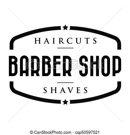 Barber shop vintage stamp logo.