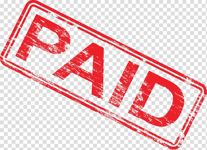 Paid logo , Payment Invoice Business Service Accounts.