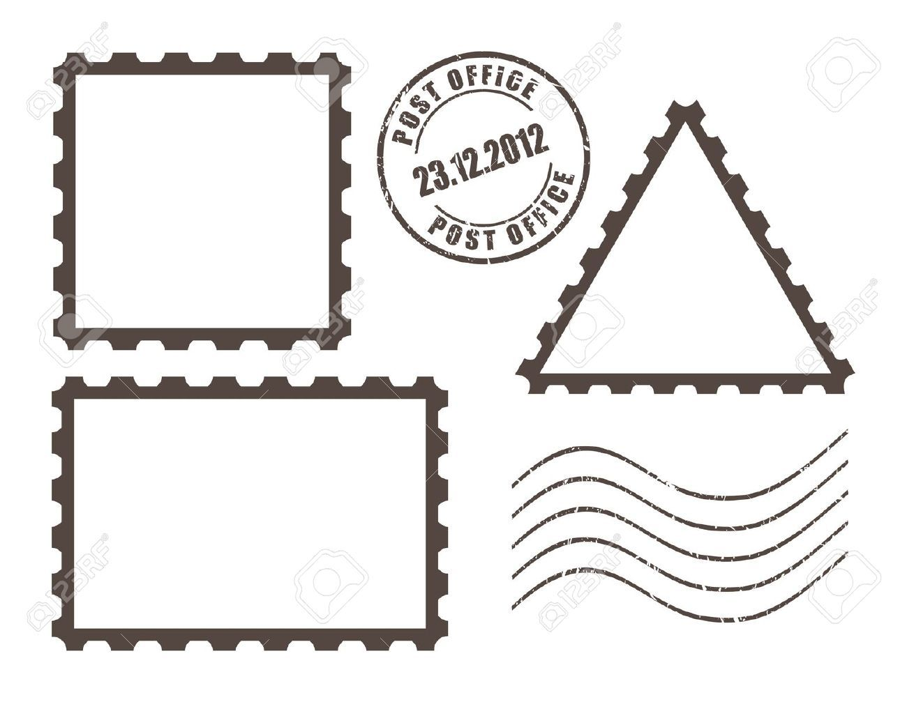 Postage stamp & mark.