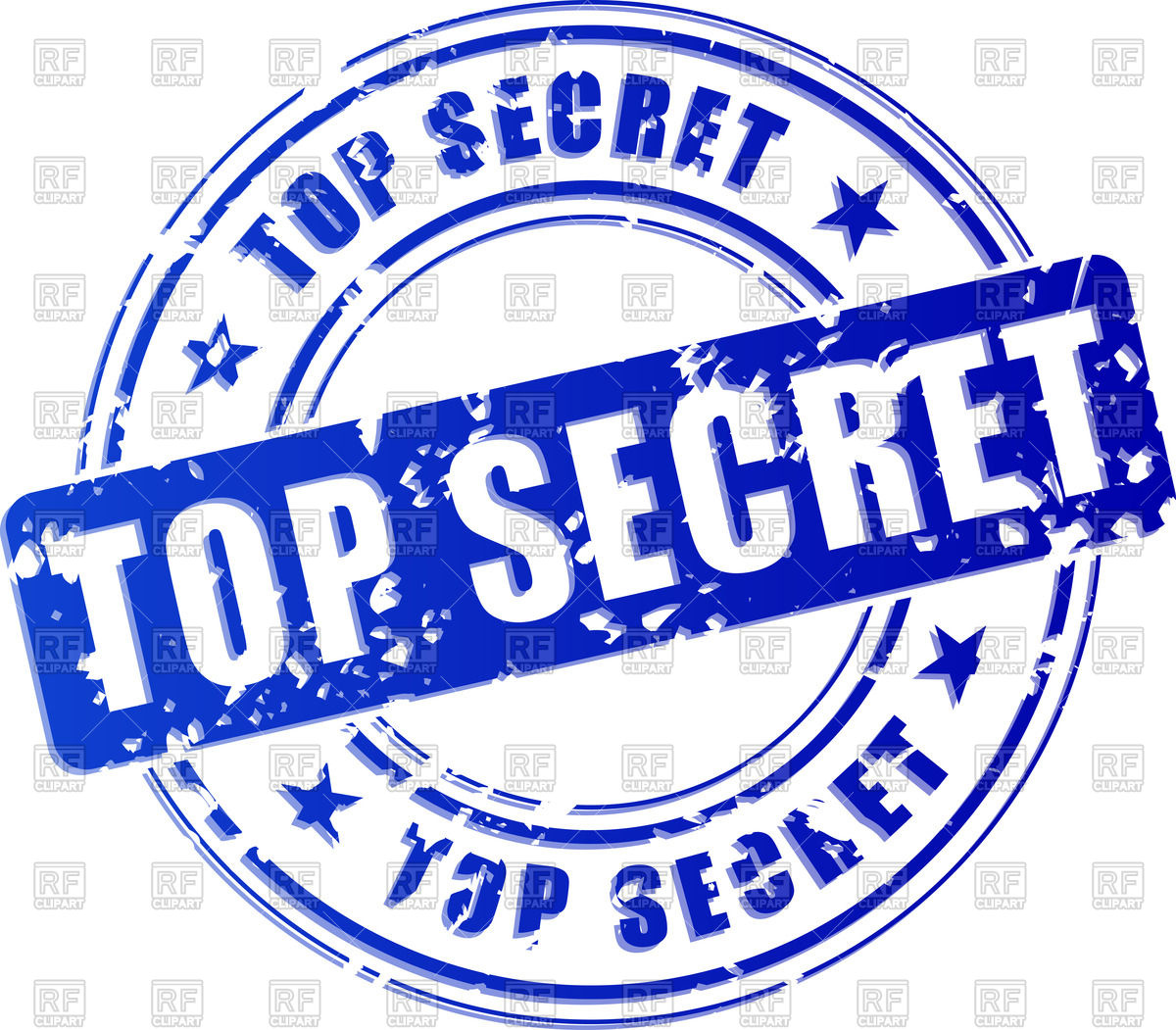 Blue stamp print with words Top Secret Vector Image #70571.