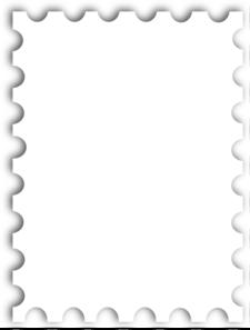 Blank Postage Stamp Template Kb clip art.