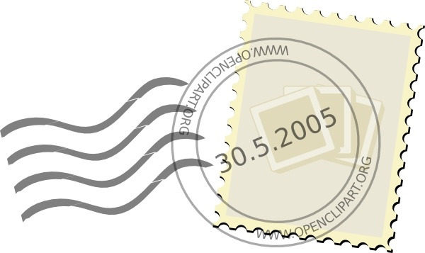 Postage Stamp clip art Free vector in Open office drawing.
