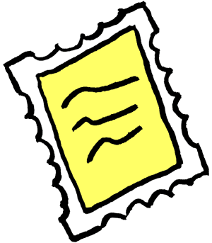 Stamped clipart.