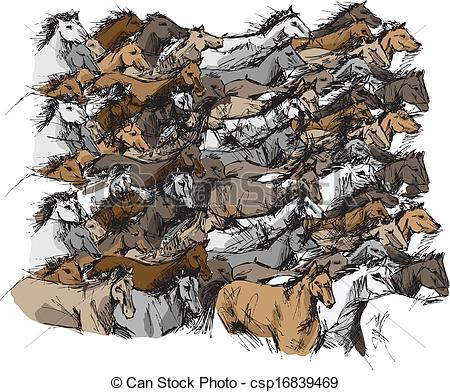 Stampede Vector Clipart Royalty Free. 17 Stampede clip art vector.