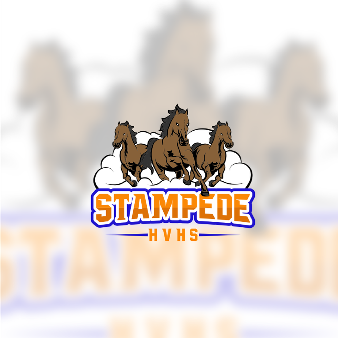 Design a cool logo for our school spirit club, The Stampede.