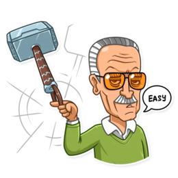 Stan Lee Cartoon png download.
