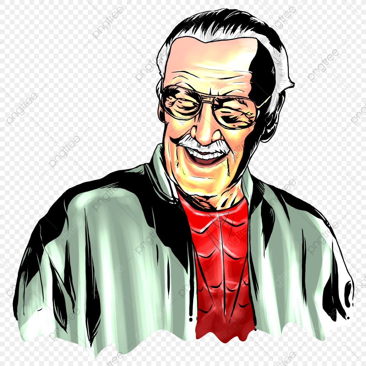 Stan Lee Sketch, Stan Lee, Sketch, Infographic PNG.