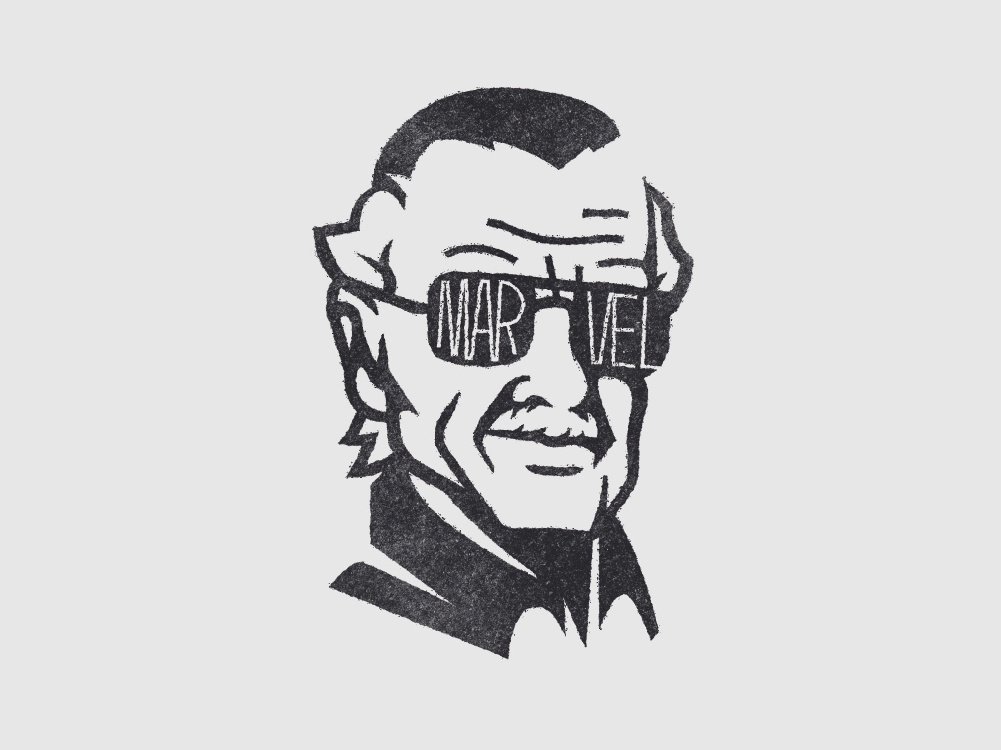 Stan Lee by Diego Messori on Dribbble.