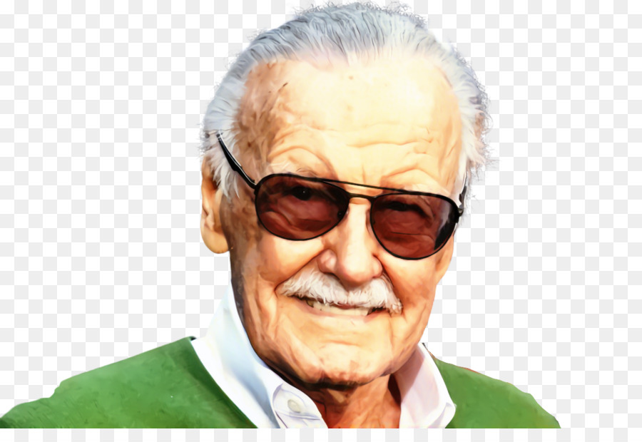 Stan Lee Cartoon png download.