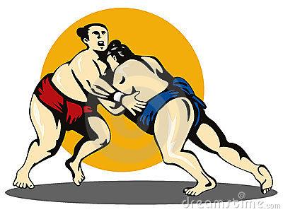 Wrestling Stance Clipart.