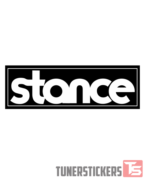 Stance Box Slap Sticker.