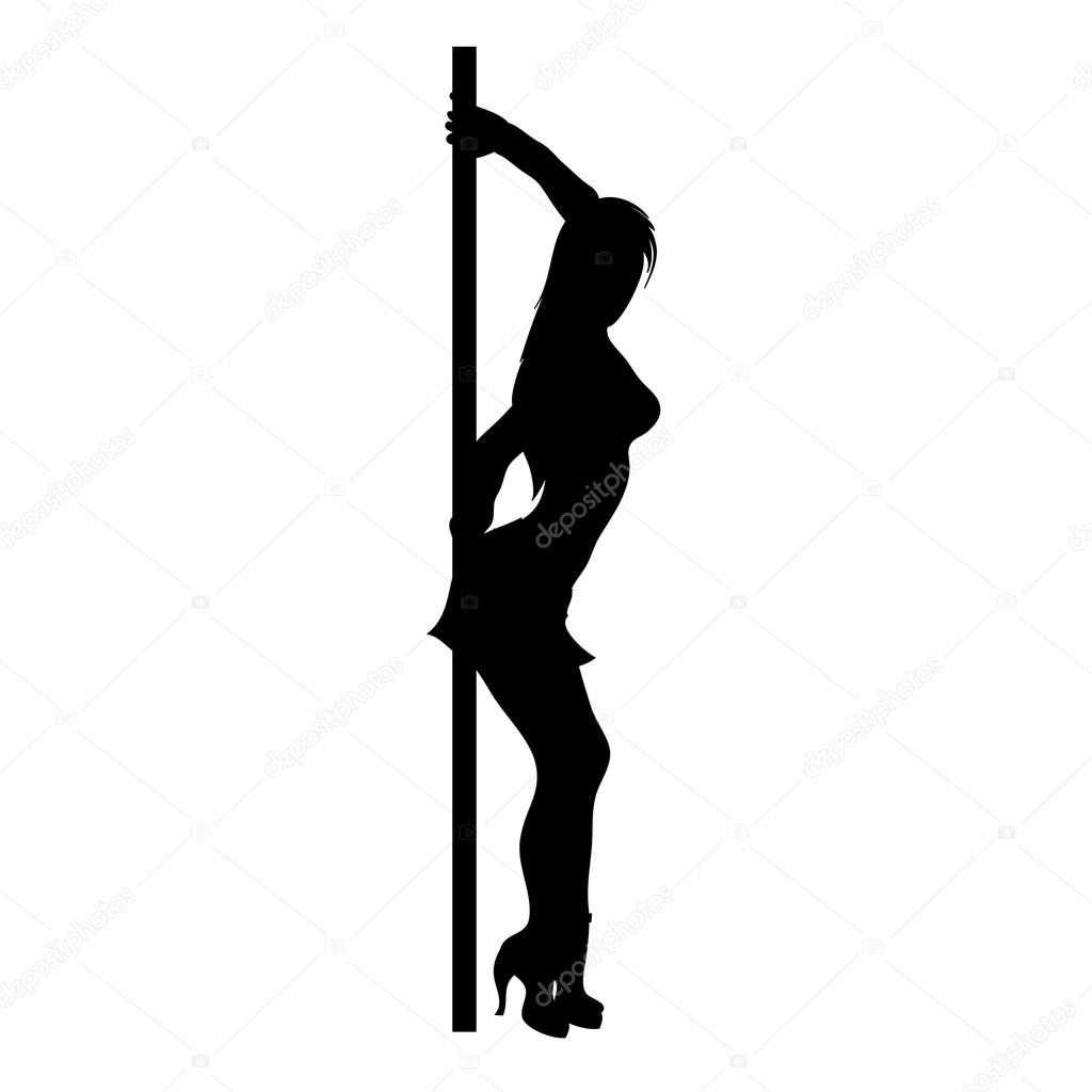 Clip Art Illustration of an Exotic Dancer Silhouette — Stock Photo.