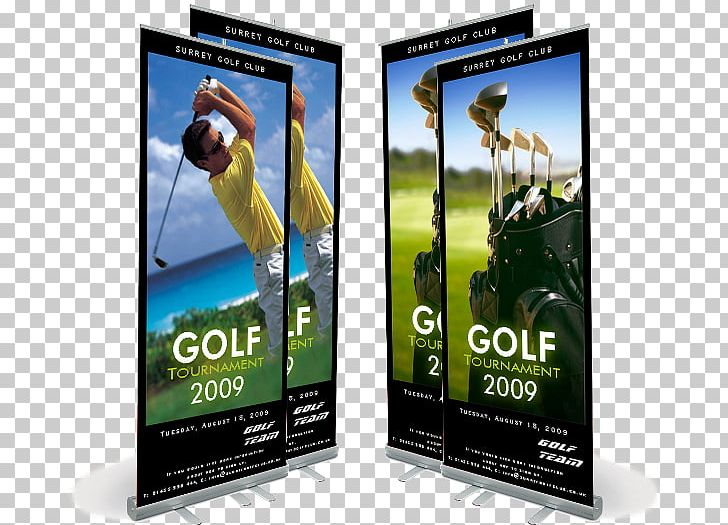 Display Stand Banner Advertising Printing Business PNG.