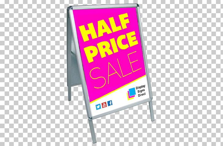 Display Stand Banner Exhibition Sandwich Board Signage PNG.