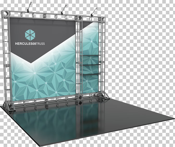 Truss Structure Textile Trade show display, Stand Banner PNG.