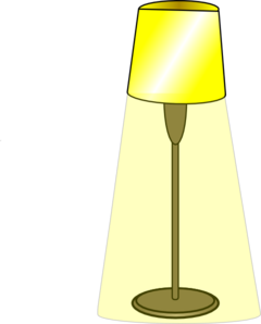Standing Lamp Clipart.
