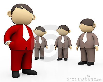 Red Man Stand Out Crowd Different Concept Stock Photos, Images.