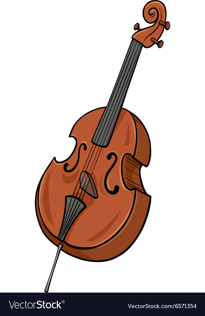 Double bass cartoon clip art.