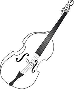 Double Bass (b And W) Clip Art at Clker.com.