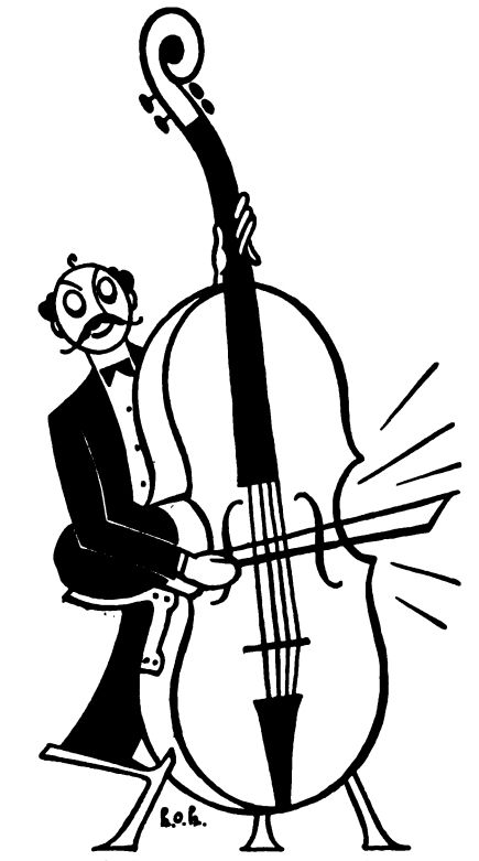 Stand up bass clipart.