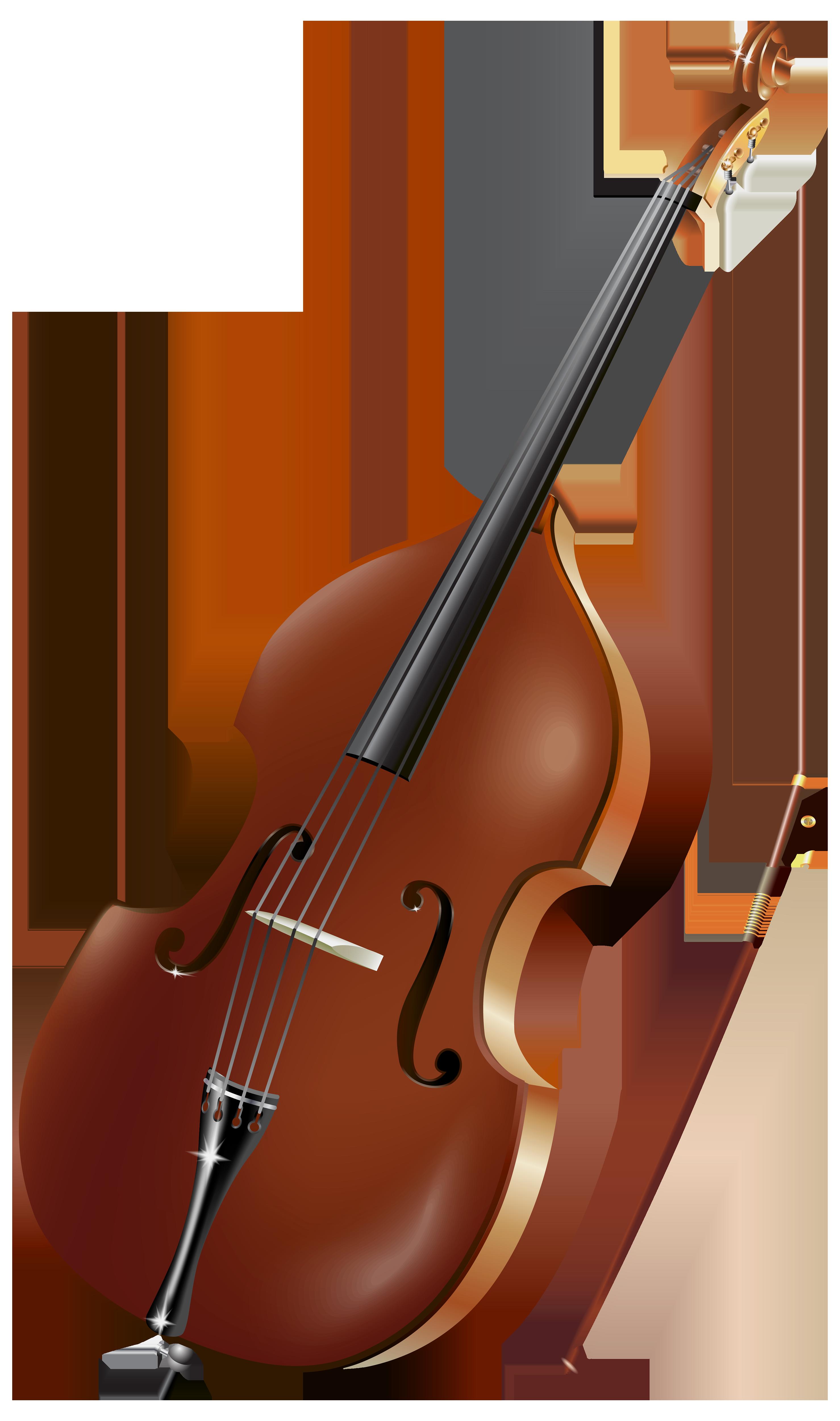 Double bass Violin Musical Instruments Cello Clip art.