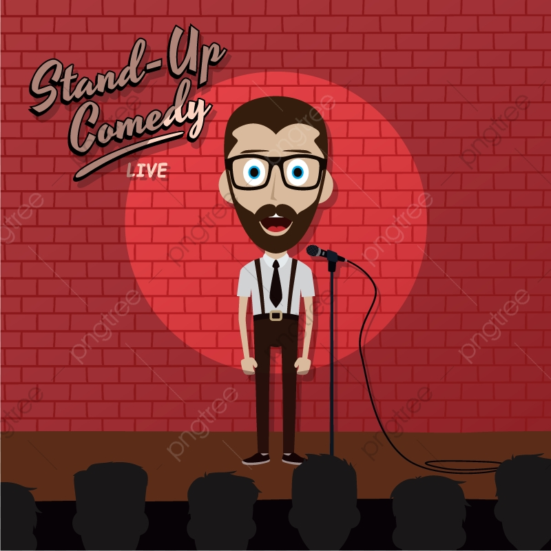 Stand Up Comedy Guy Cartoon, Stand Up Comedy, Comedy, Open.