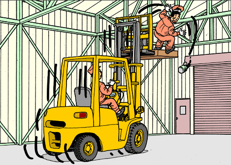 Forklifts ‪#‎AccidentCase‬ Can you predict what\'s about to.