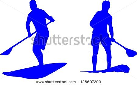 Stand Paddling Stock Vector 128607209.