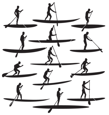 Paddleboard Clipart.