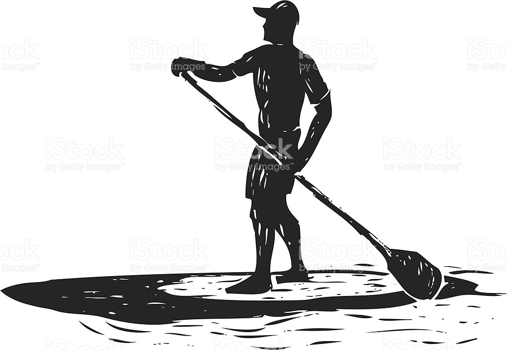 Sketched Stand Up Paddle Surfer stock vector art 165974896.