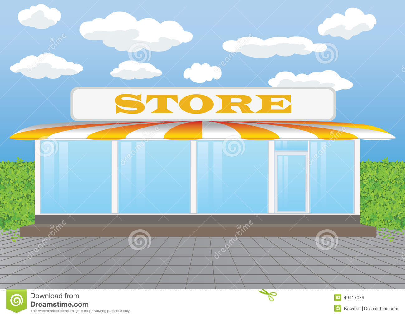 Stand Alone Store Stock Photo.