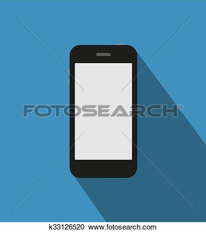 Clipart of Black phone standalone k33126520.