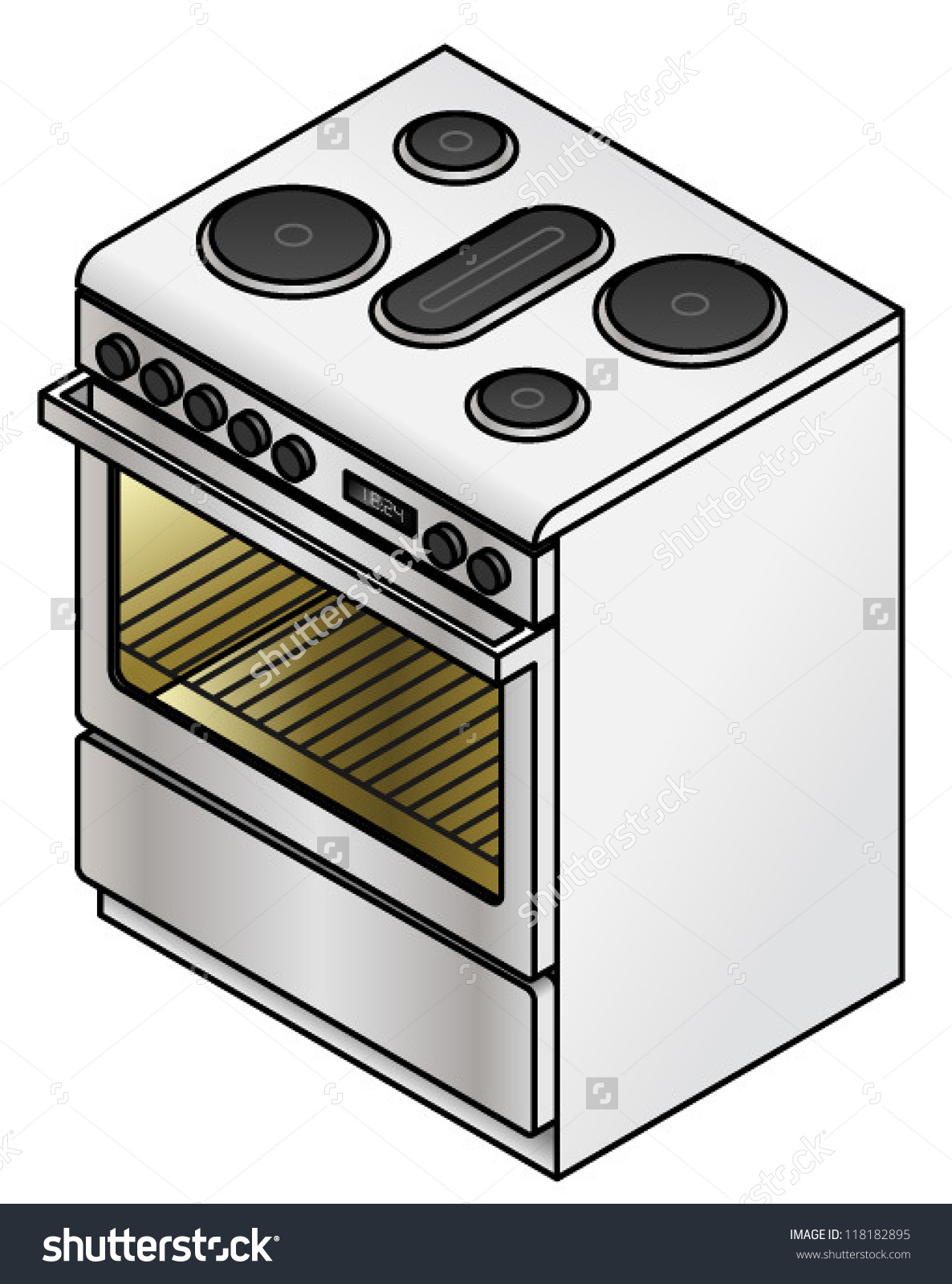 Electric stove clipart.