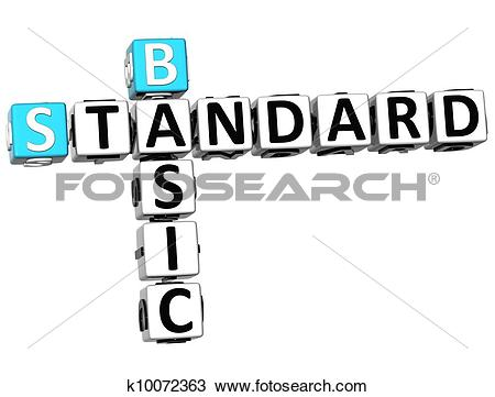 Drawing of 3D Basic Standard Crossword k10072363.