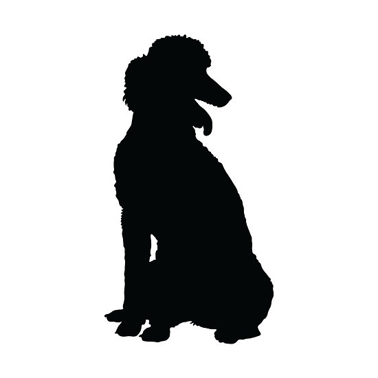 Poodle Silhouette Clipart.