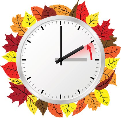 Time Change TO Standard Time premium clipart.