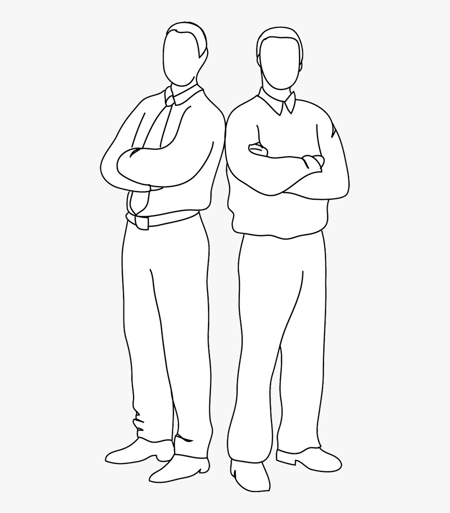 Two People Standing Back To Back Clipart , Free Transparent.
